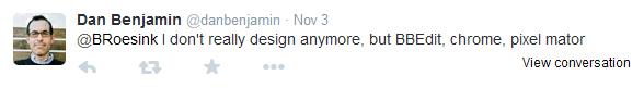 Dan Benjamin tweet