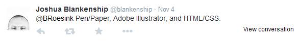 Joshua Blankenship tweet