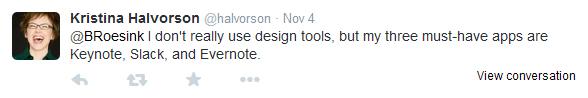 Kristina Halvorson tweet