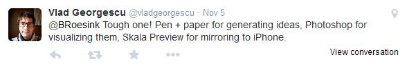 Vlad Georgescu tweet