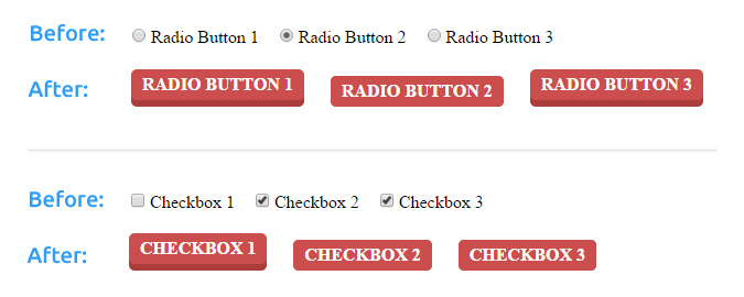 Custom CSS Radio Buttons and Checkboxes