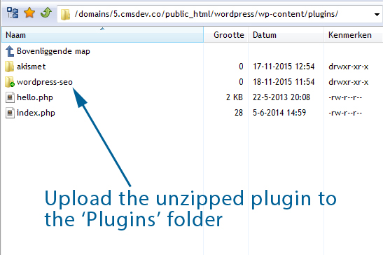 Upload Unzipped Plugin To Plugins Folder