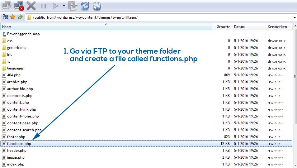 WordPress functions file